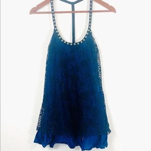 Free People lace studded tank top